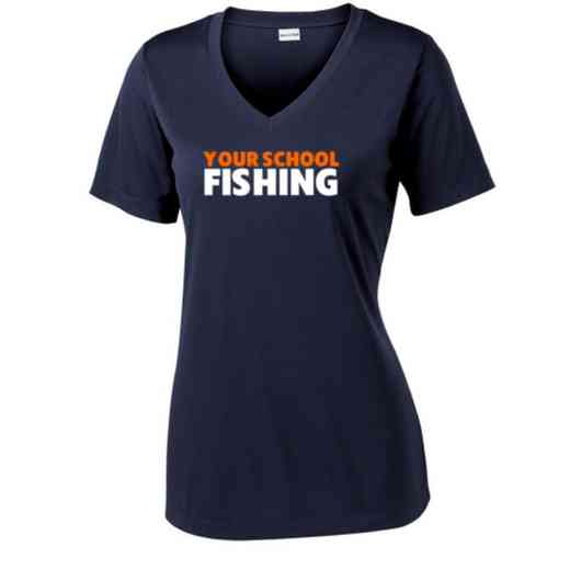 Fishing Sport Tek Womens V-Neck Competitor T-shirt